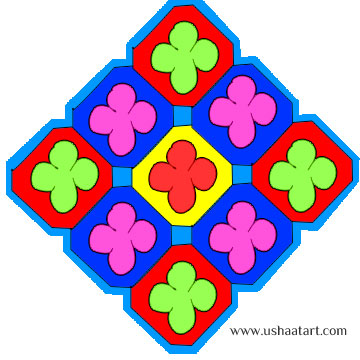Flower-Kolam4Color