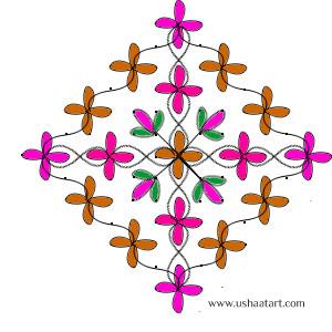Flower-Kolam 5