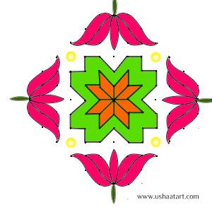 Flower-Kolam6