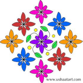 Flower-Kolam8