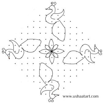 Peacock-Kolam