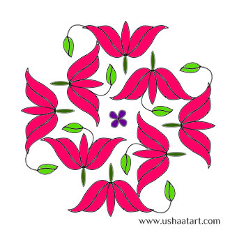 flower-Kolam7Color