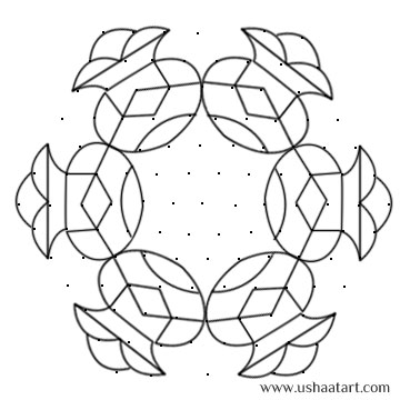 Flower Kolam 24