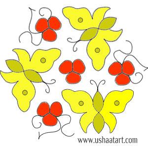Butterfly Kolam 1