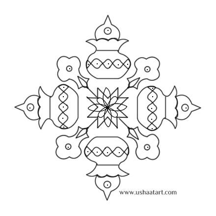 Flower Kolam 21