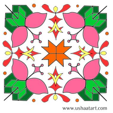 Flower Kolam 23