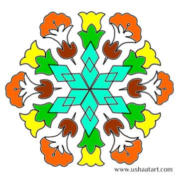 Flower Kolam 25