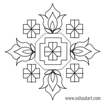 Flower Kolam 26