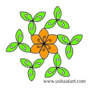 Flower Kolam 30