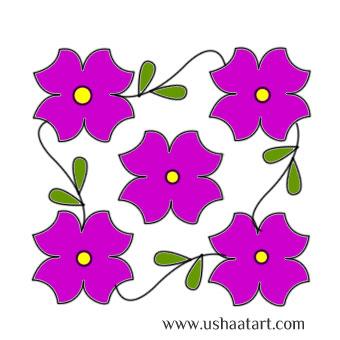 Flower Kolam 32
