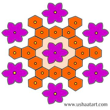 Flower Kolam 36
