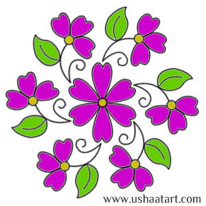 Flower Kolam 40