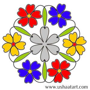Flower Kolam 41