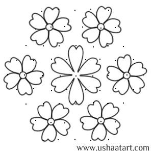 Flower Kolam No 41 Usha At Art