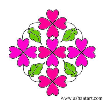Flower Kolam 42