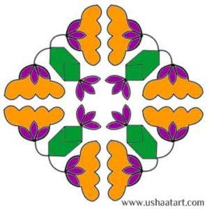 Flower Kolam 46