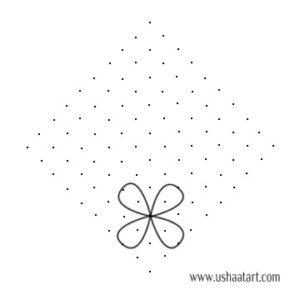 Flower Kolam No 49 Usha At Art