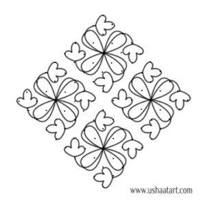 Flower Kolam 49