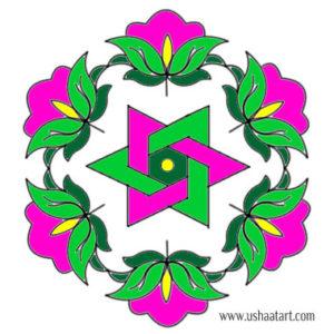 Flower Kolam47