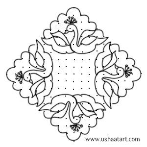 Peacock Kolam 4