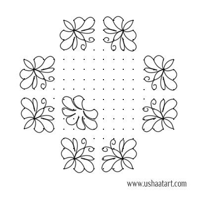 Butterfly-Kolam10c