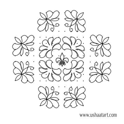 Butterfly-Kolam 10