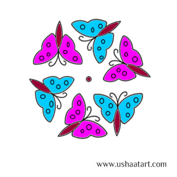Butterfly Kolam 5