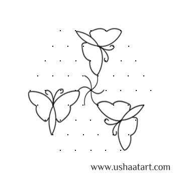 Butterfly Kolam 6