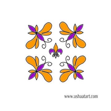 Butterfly Kolam 8