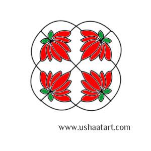 Flower Kolam 51