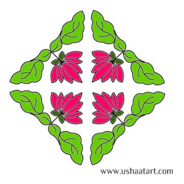 Flower Kolam 52