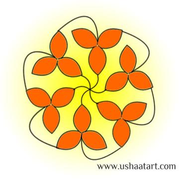 Flower Kolam 53