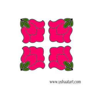 Flower Kolam 54