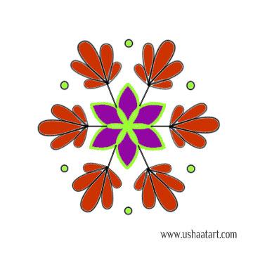 Flower Kolam 55