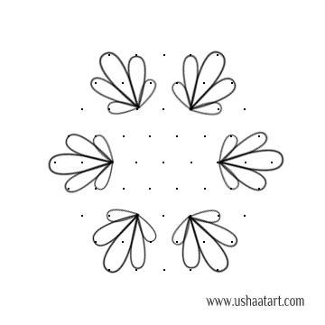 Flower Kolam 57