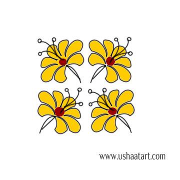 Flower Kolam 58
