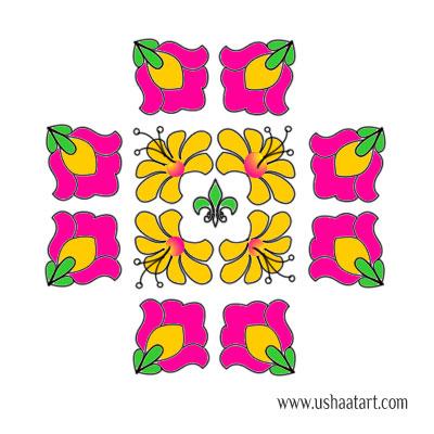 Flower Kolam 59