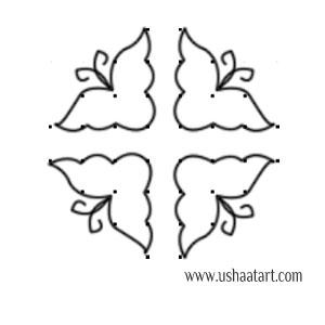 Butterfly Kolam 11