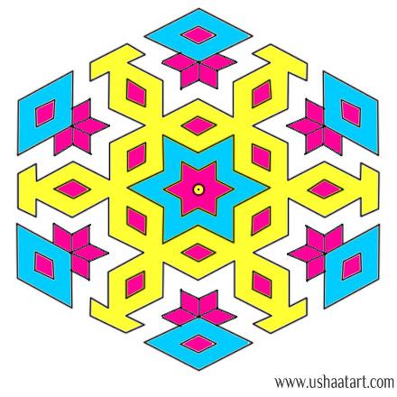 Flower Kolam 60