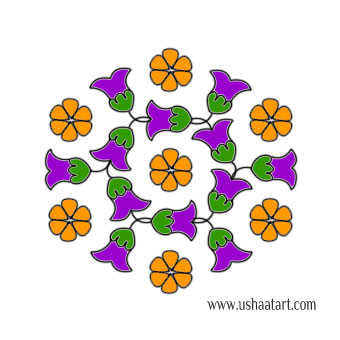 Flower Kolam 61