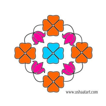 Flower Kolam 62