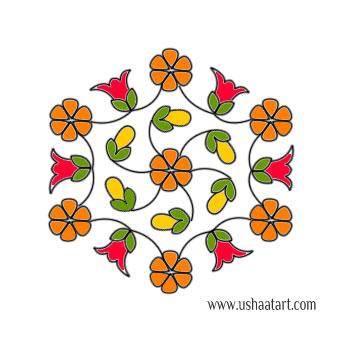 Flower Kolam 63