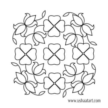 Flower Kolam 64