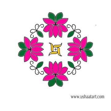Flower Kolam 65
