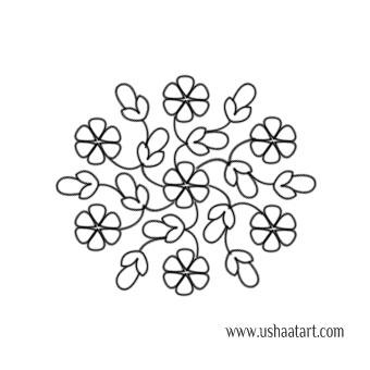 Flower Kolam 66