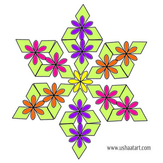 Flower Kolam 67