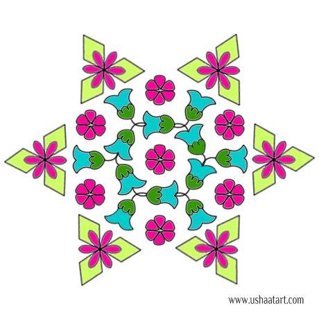 Flower Kolam 68