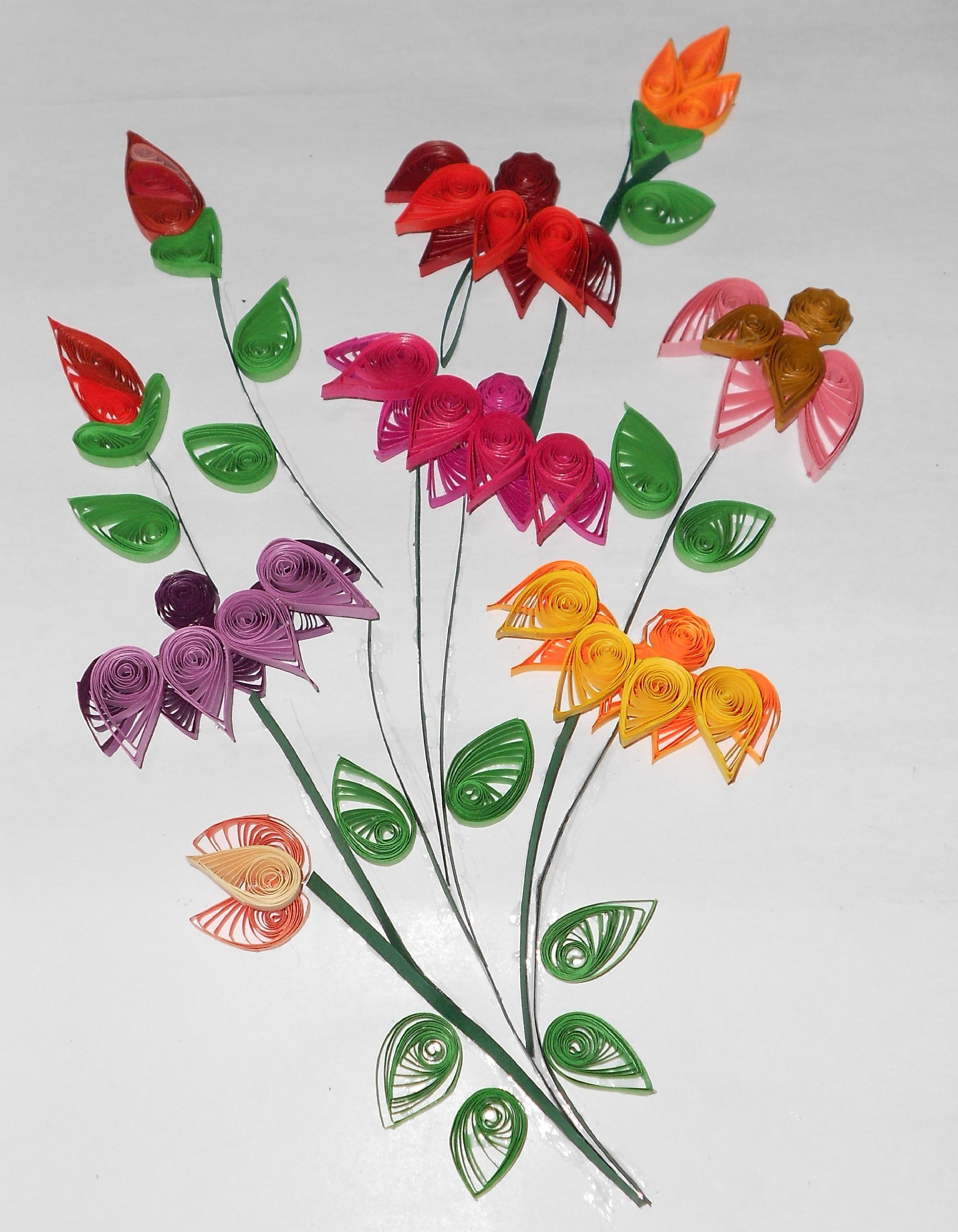 Quilled flower bouquet