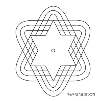 Star Kolam 12