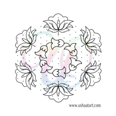 Flower Kolam 71
